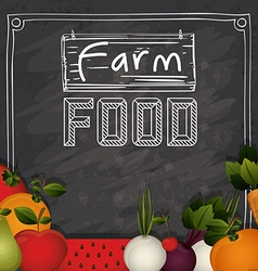 Farm food design vector