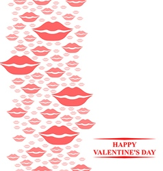 Kiss card pink vector