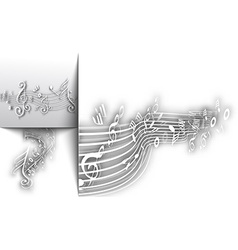 Abstract musical notes background vector