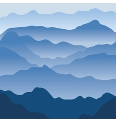 Mountains fog vector image