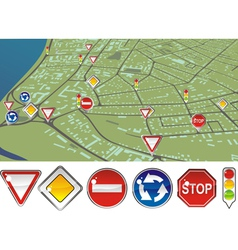 Gps signs vector