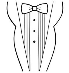 Abstract hand-drawn sketchy black tuxedo vector