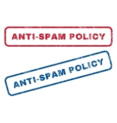 Anti-spam policy rubber stamps vector