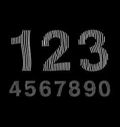 Arabic numerals set 1-10 vector