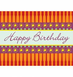 birthday abstract greeting card vector image