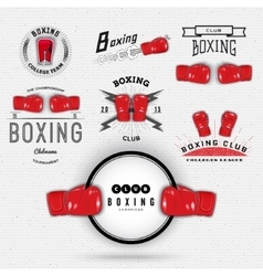 Boxing badges logos and labels for any use vector image