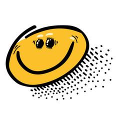 Cartoon image of smile icon happy face symbol vector