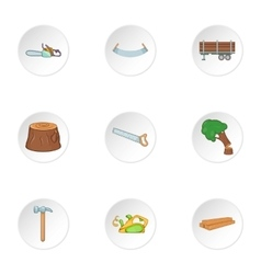 Cleaver icons set cartoon style vector