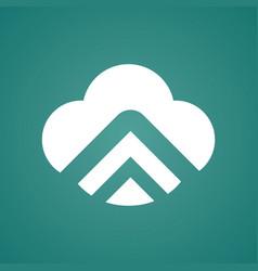 clod arrow uptechnology icon logo vector image vector image