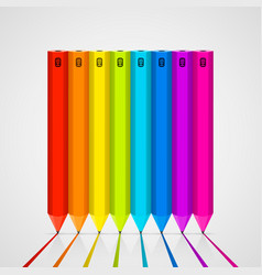color pencils isolated on white background vector image vector image