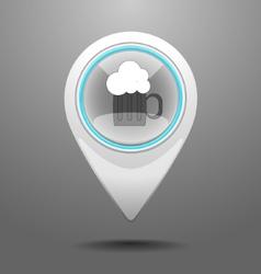 Glossy pub icon vector