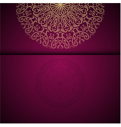 Gold oriental arabesque pattern background with vector