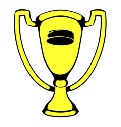 Gold shiny trophy cup award icon icon cartoon vector
