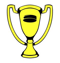 gold shiny trophy cup award icon icon cartoon vector image vector image