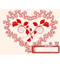 heart and roses vector image
