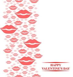 kiss card pink vector image