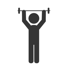 Male weights gym icon vector