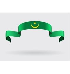 Mauritanian flag background vector