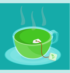 meeting green tea vector image vector image