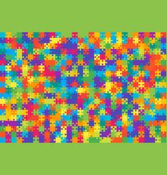 multicolor puzzles pieces jigsaw - vector image
