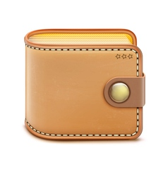 realistic wallet vector image vector image