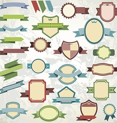 ribbons template collection vector image vector image