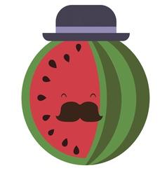 Senior water-melon vector