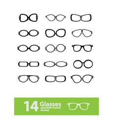 spectacle frames vector image