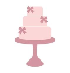Vintage wedding cake vector