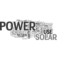 What you need to know about solar power text word vector