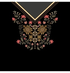 Design for collar shirts blouses t-shirt vector