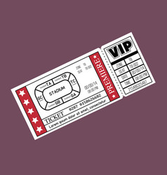 Stadium ticket entrance icon vector