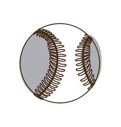 monochrome silhouette baseball ball element sport vector image