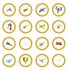 aviation icon circle vector image