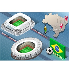 Isometric stadium of recife and belo horizonte vector