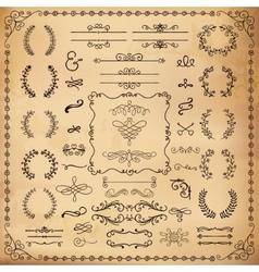 Vintage Hand Drawn Design Elements vector image