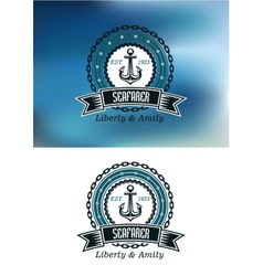 Seafarer badges or emblems vector