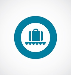 Luggage on airport icon bold blue circle border vector