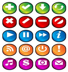 Puck button icons vector