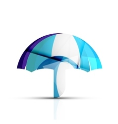 Umbrella protection logo vector