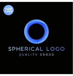 The spherical ring gradients logo vector image