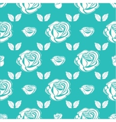 Seamless pattern vintage rose vector