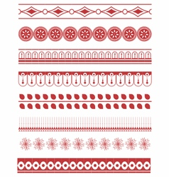Decorative border set vector