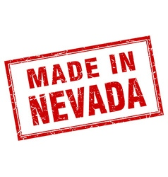Nevada red square grunge made in stamp vector