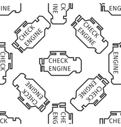 Check engine icon pattern vector