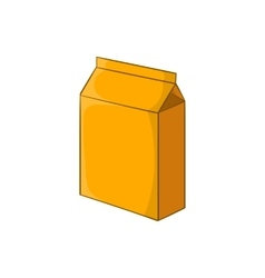 Cardboard packaging icon cartoon style vector