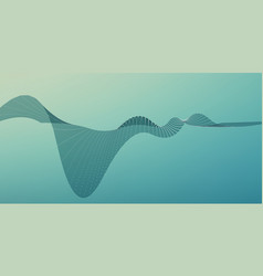 abstract wave mesh background point vector image