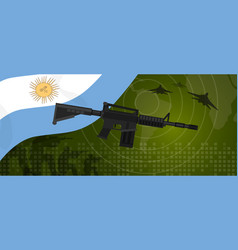 Argentina military power army defense industry war vector