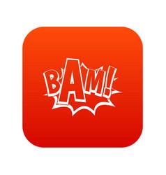 Bam comic book bubble icon digital red vector
