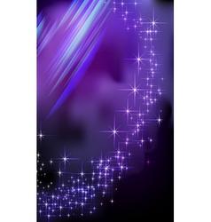 Blue Fantasy star background vector image vector image